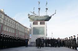 Открытие памятника кораблю